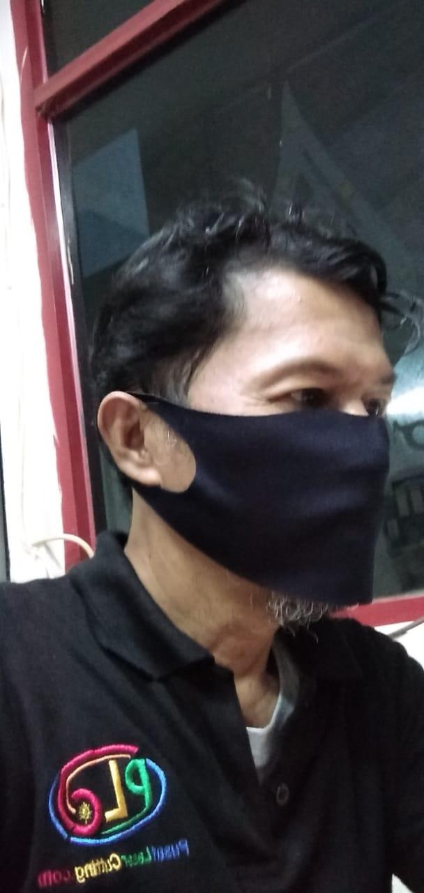 Laser cutting masker kain scuba korea